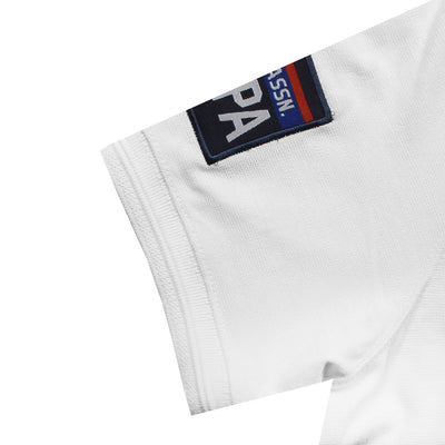 Ultra Comfort Flex Embroidered Logo White Polo