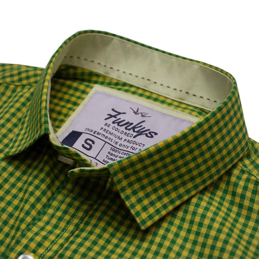 Funkys Micro Checkered Casual Shirt