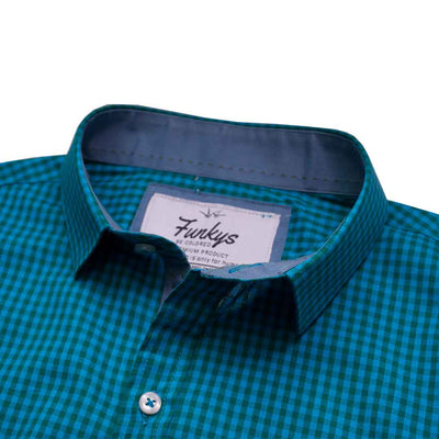 Funkys Micro Checkered B Quality Casual Shirt