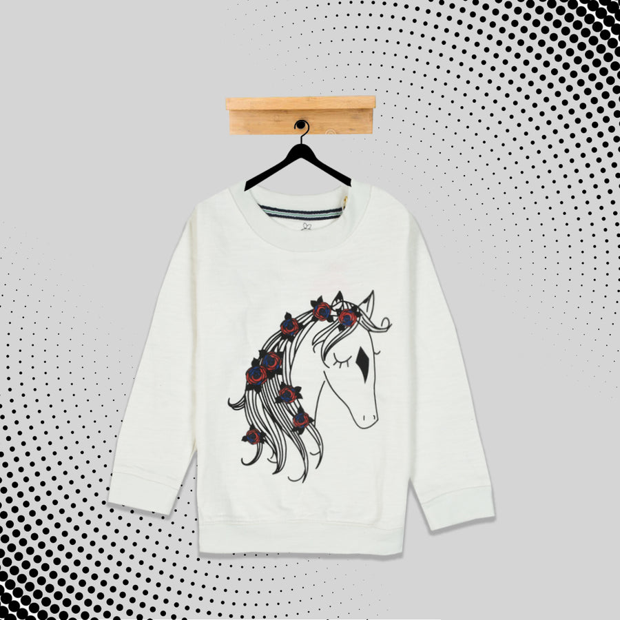 kid's Little Unicorn Printed  SweatShirt (1 YEARS to 12 YEARS)