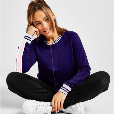 Funkys Henley neck women bomber jacket