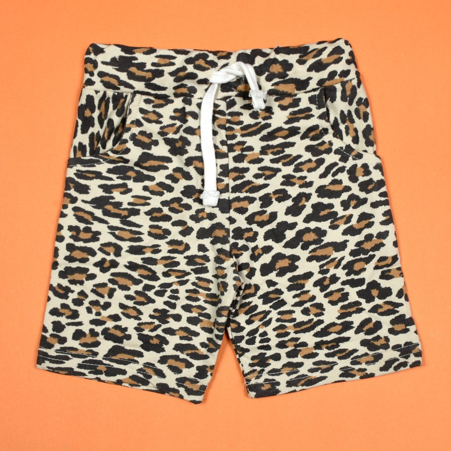 Baby All Over Leopard Print Comfy Shorts
