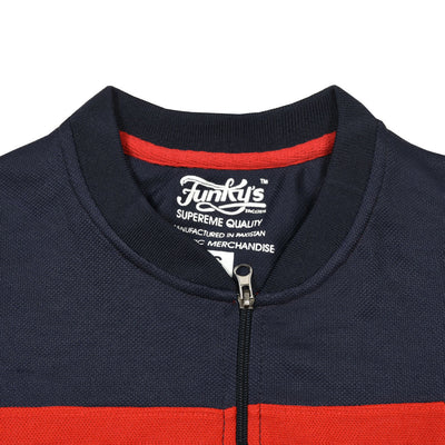 Funkys Gravity Show Contrast Panel  Red Track Suit