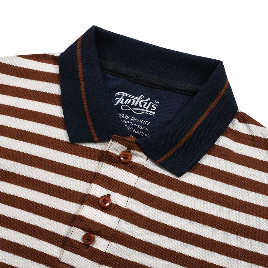 Funky's Defining Designer Brown Stream Polo