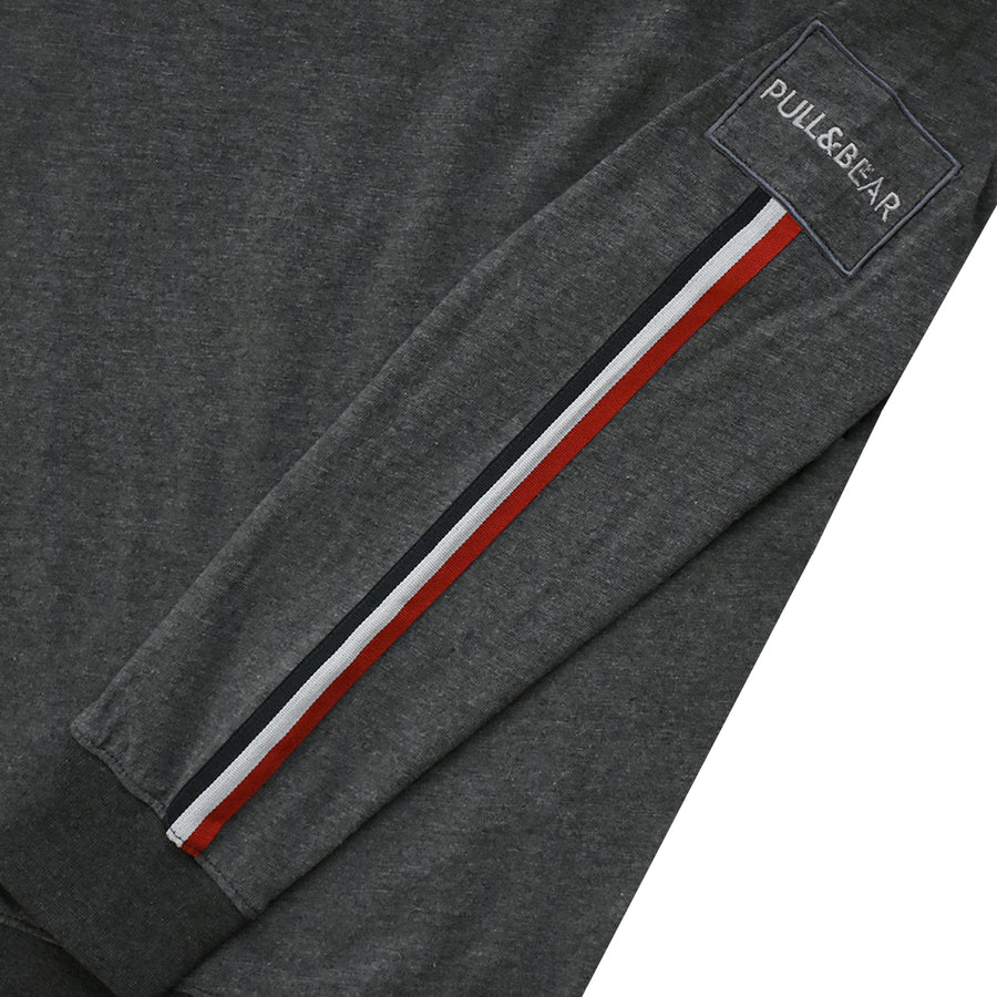 P&B Side Striped Charcoal Premium Sweatshirt