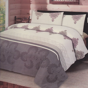 Cotton Concept Dark Grey Double Bed Sheet Set