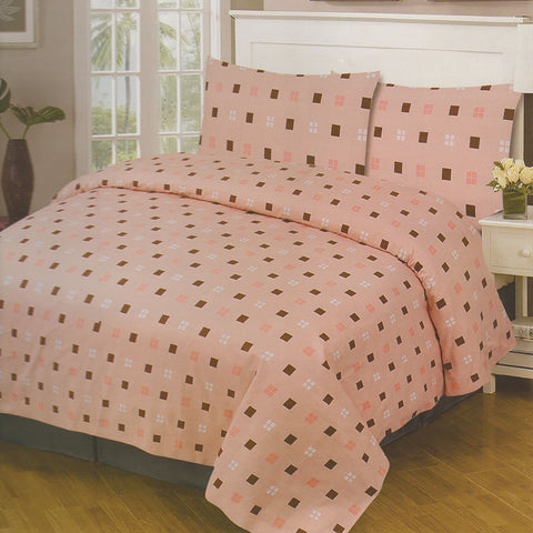 Cotton Concept Light Coral Double Bed Sheet Set