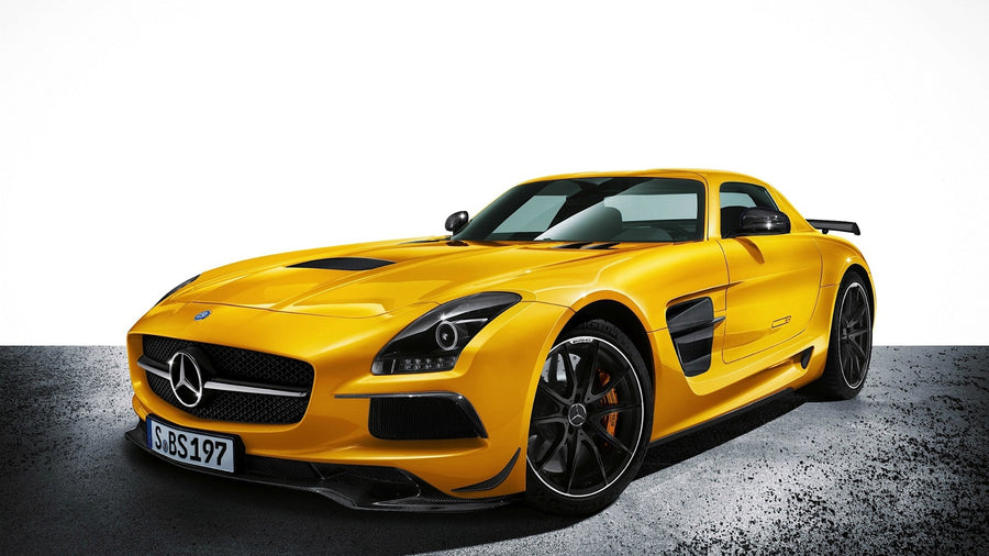 Yellow Mercedes Benz AMG