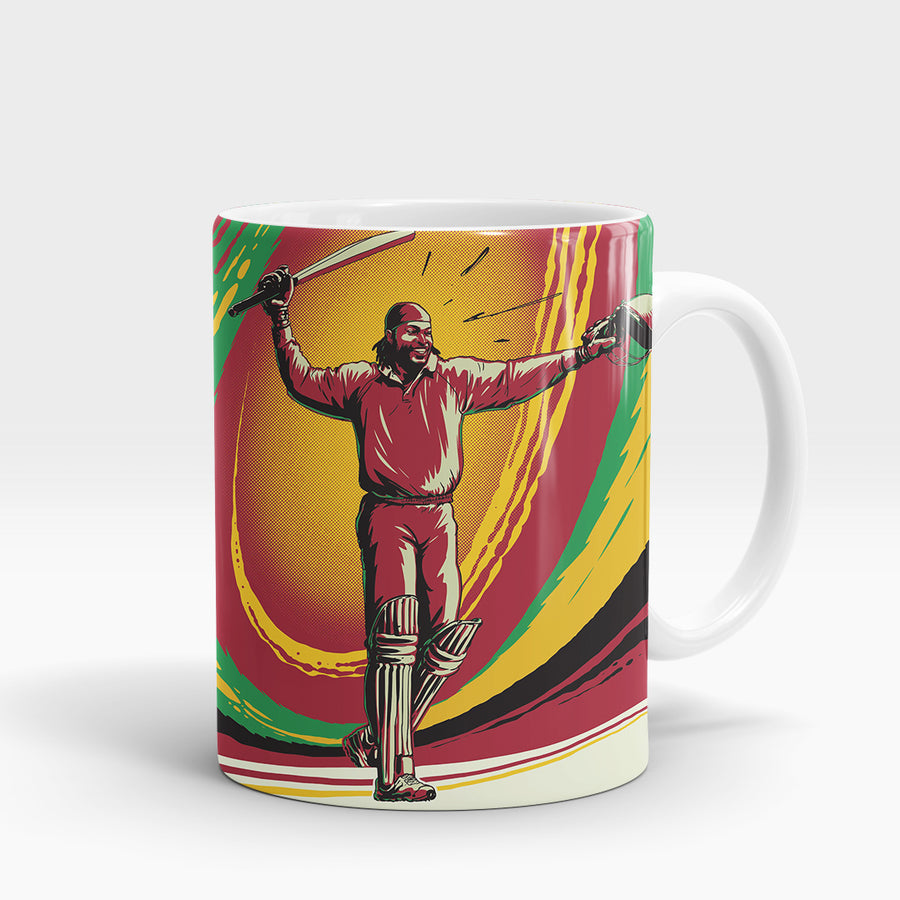 Chris Gayle Vector - Deeds.pk