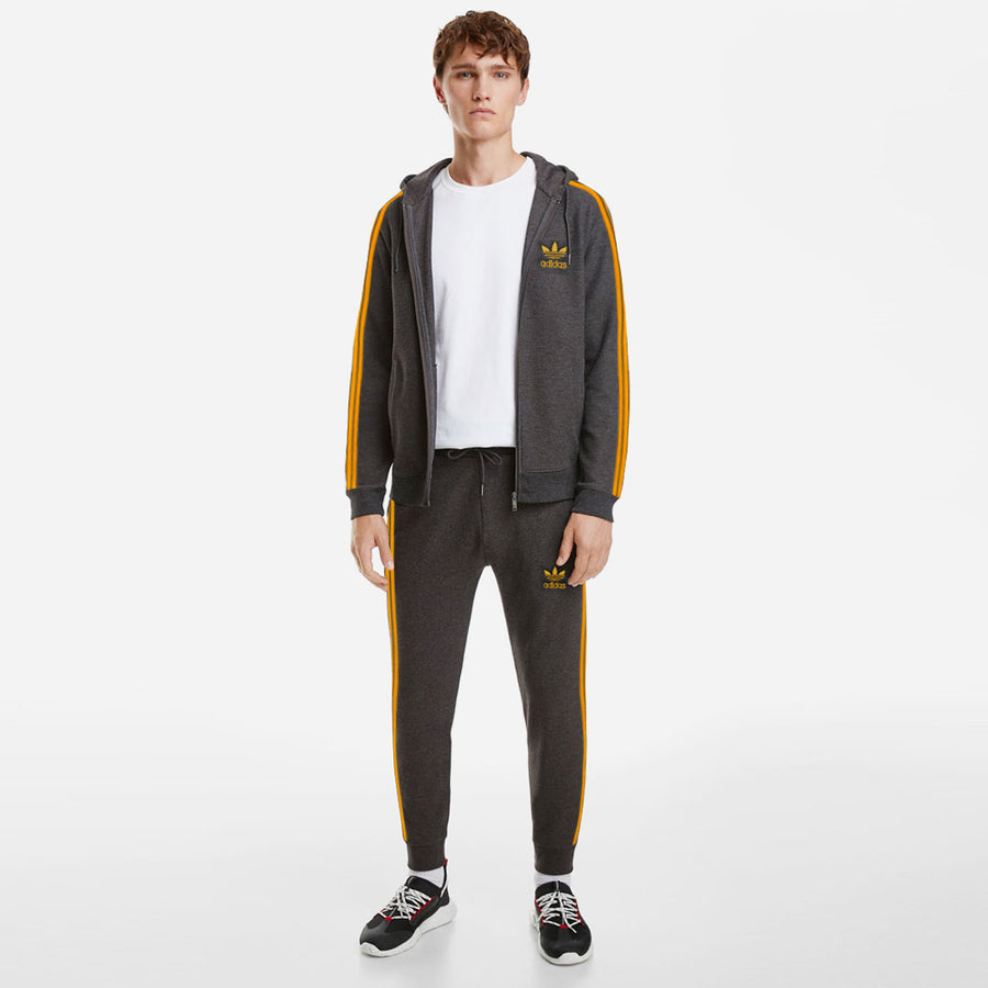 ADS CHARCOAL YELLOW STRIPED TRACK SUIT