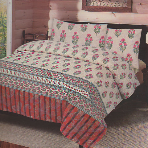 Cotton Concept Skin Floral Double Bed Sheet Set