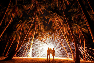 Couple in Fireworks - Deeds.pk