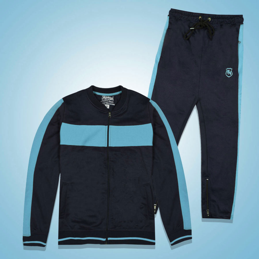 Funkys Gravity Show Contrast Panel Skyblue Track Suit