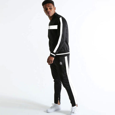 Funkys Gravity Show Contrast Panel White Track Suit