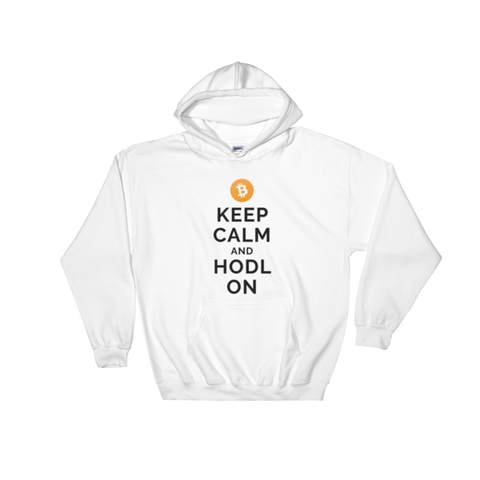 Bitcoin Keep Calm and Hodl On Hoodie