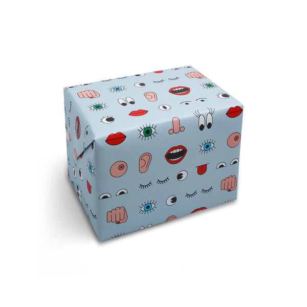 Body Language Wrapping Paper - HOWKAPOW