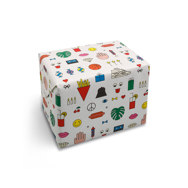 Birthday Mix Wrapping Paper - HOWKAPOW