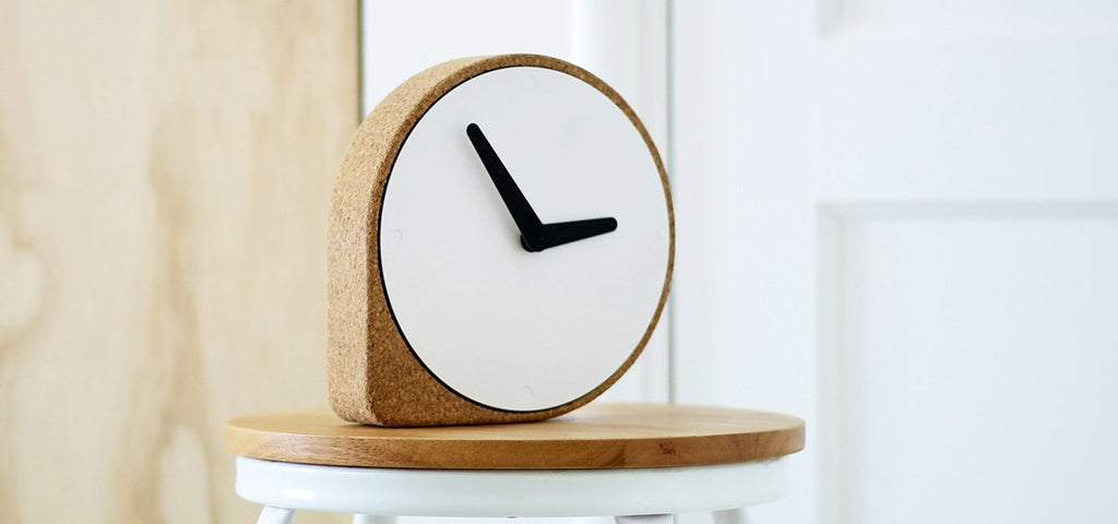 Natural Cork Clock CLORK - HOWKAPOW