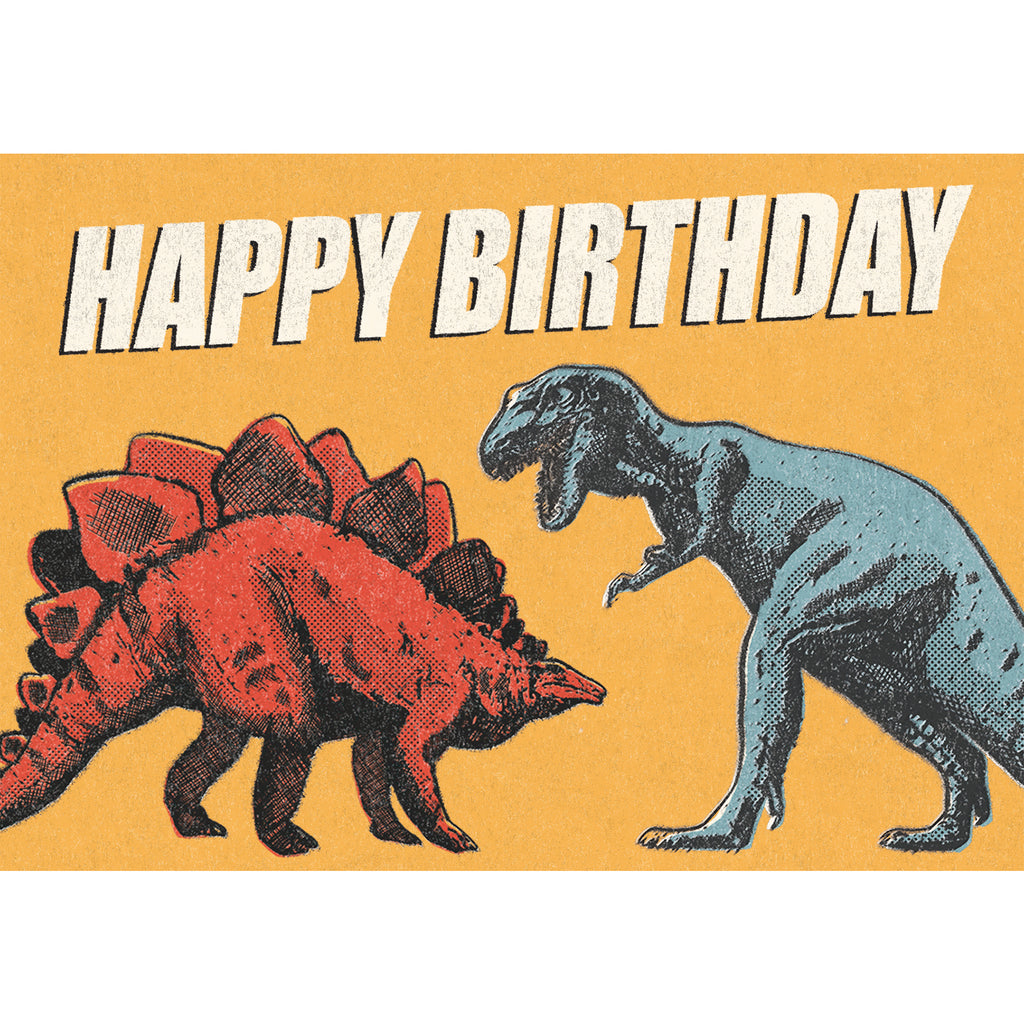 Prehistoric Land Dinosaur Birthday Card - HOWKAPOW