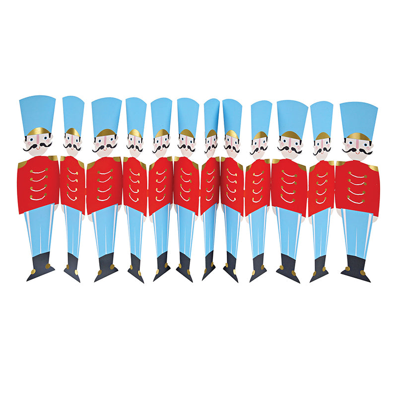 Nutcracker Soldiers Fold Out Card - HOWKAPOW