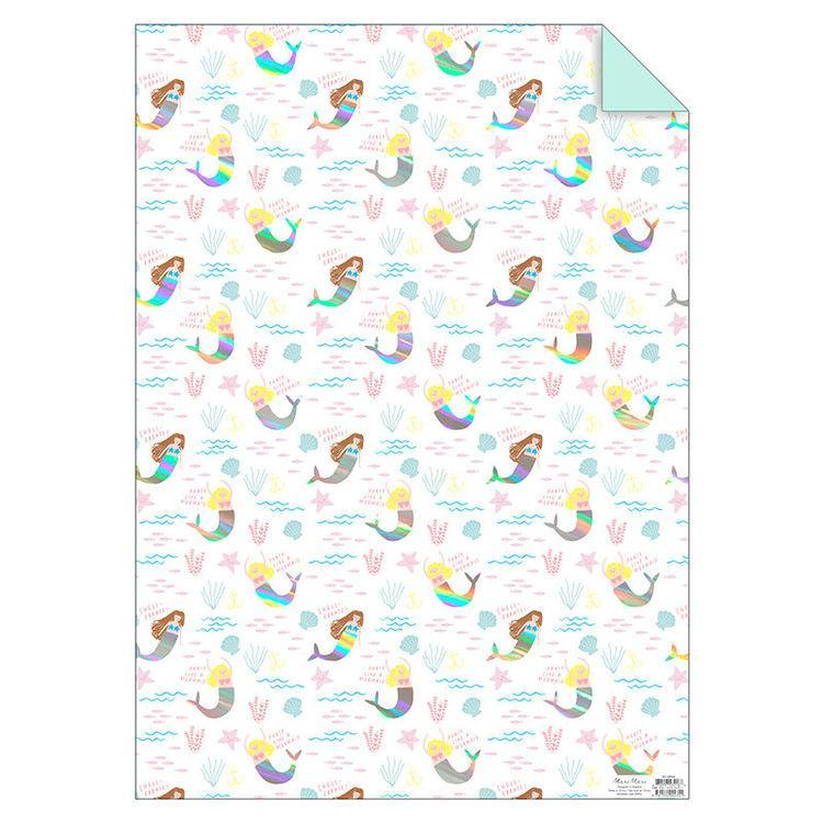 Mermaids Wrapping Paper - HOWKAPOW