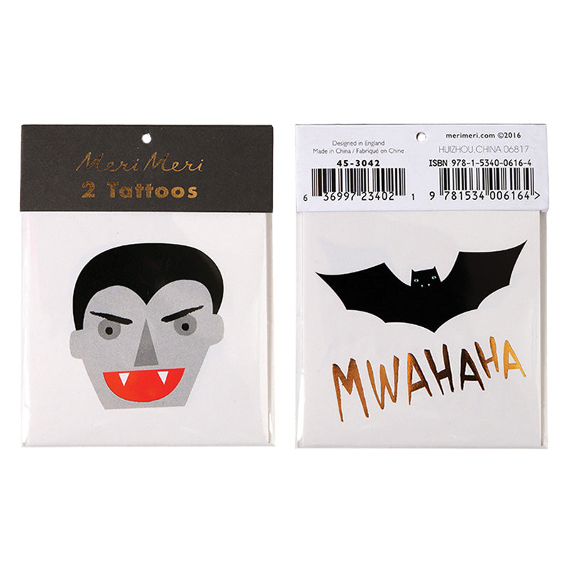 Dracula & Bat Tattoos - HOWKAPOW