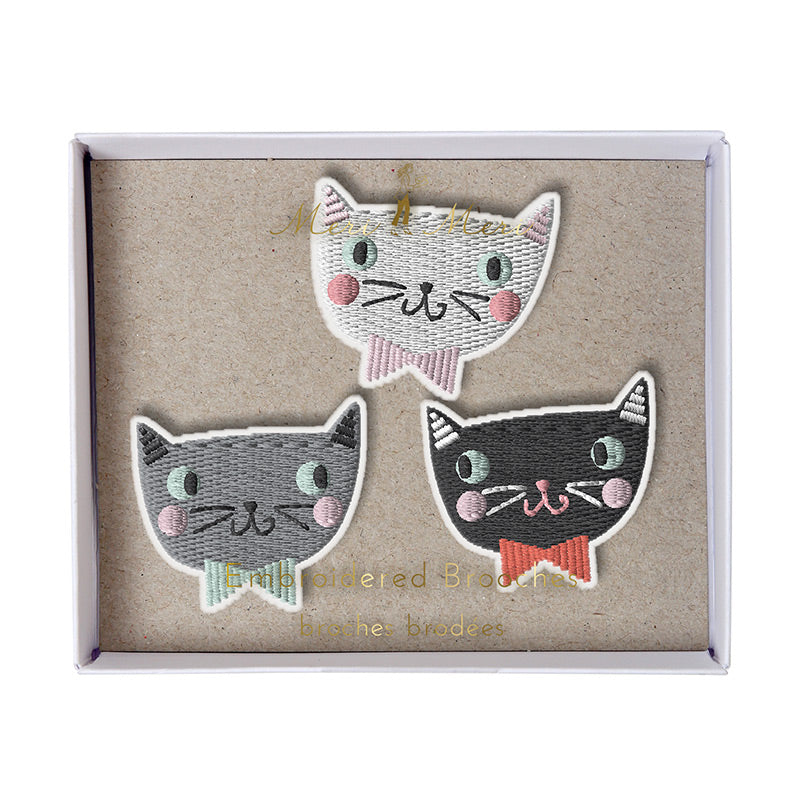 Cat Brooches - HOWKAPOW