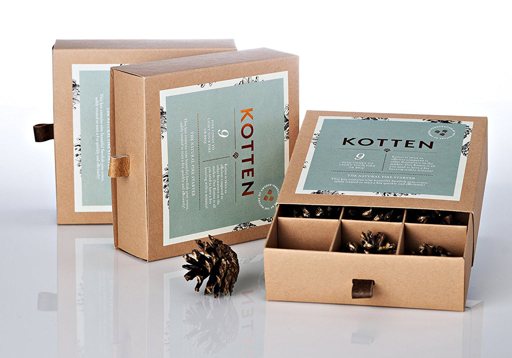Swedish Pine Cone Fire Starter Gift Box - HOWKAPOW