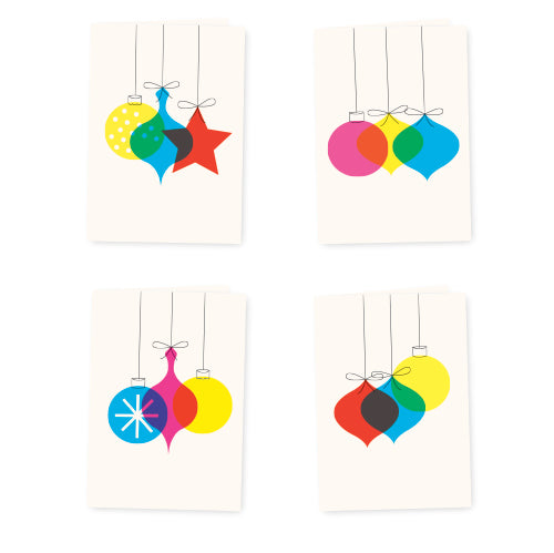 Vintage Bauble Christmas Card Set - HOWKAPOW