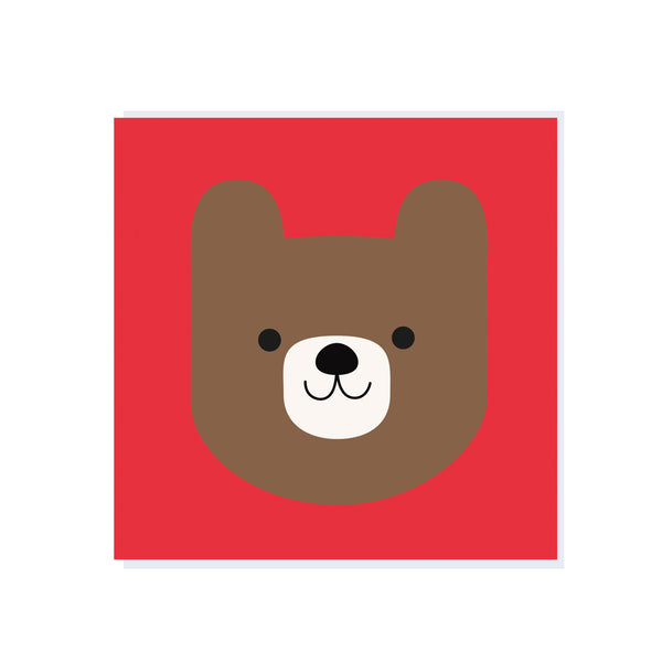 Hello Bear Card - HOWKAPOW