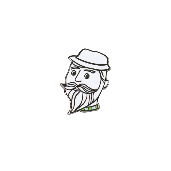 Beardy Dude Enamel Pin