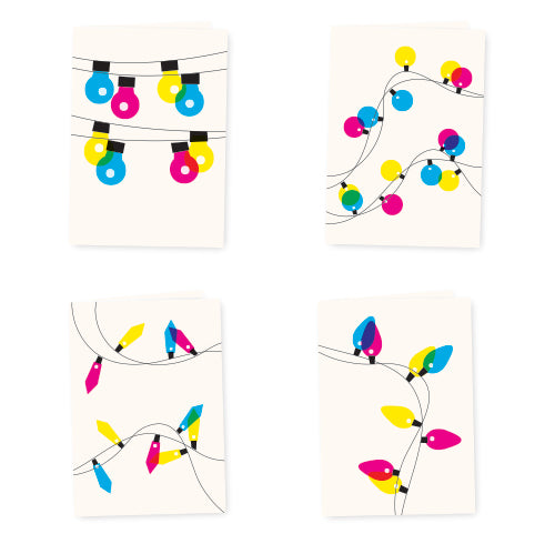 Festive Lights Christmas Card Set - HOWKAPOW