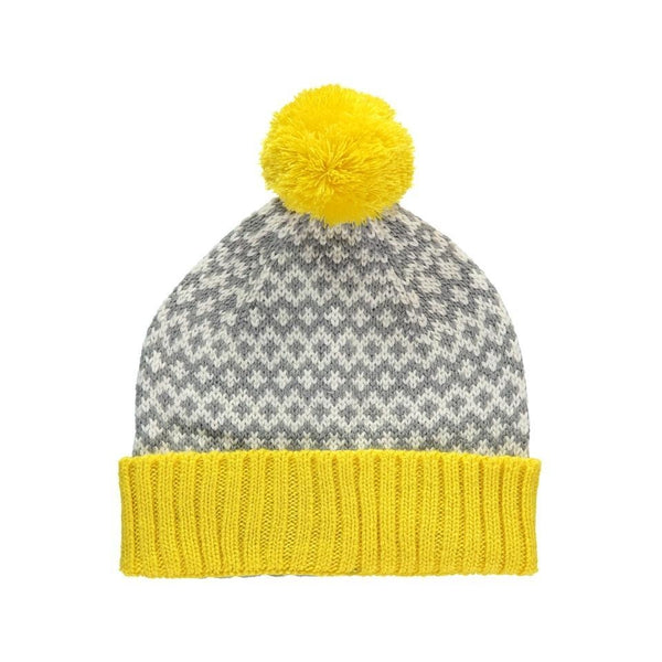 Yellow Graphic Beanie