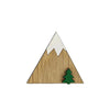 Wooden Mountain Brooch - HOWKAPOW