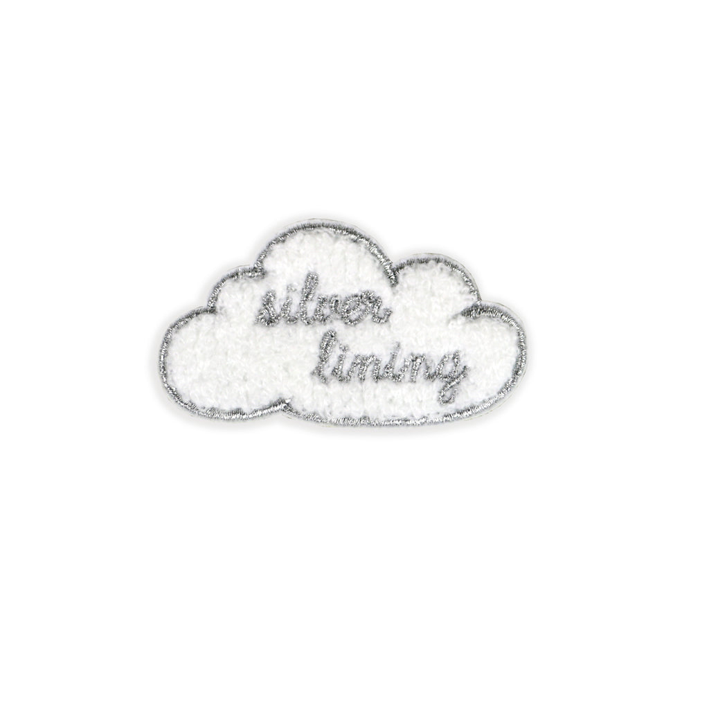 Silver Lining Embroidered Patch - HOWKAPOW