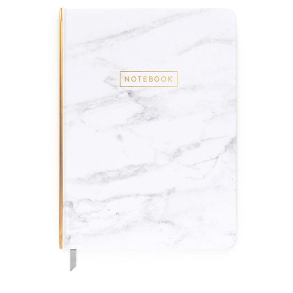 Large White Marble Journal - HOWKAPOW