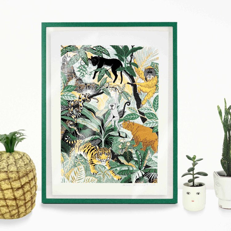 Seoni Jungle Screen Print - HOWKAPOW