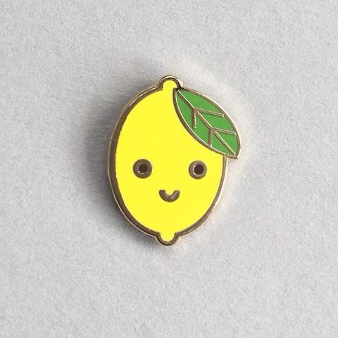 Lemon Enamel Pin - HOWKAPOW