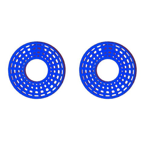 Sobrino Earrings - HOWKAPOW - Blue