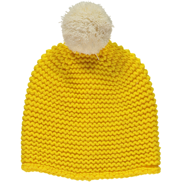 Yellow Chunky Knit Beanie