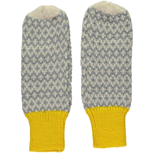 Yellow Graphic Mittens
