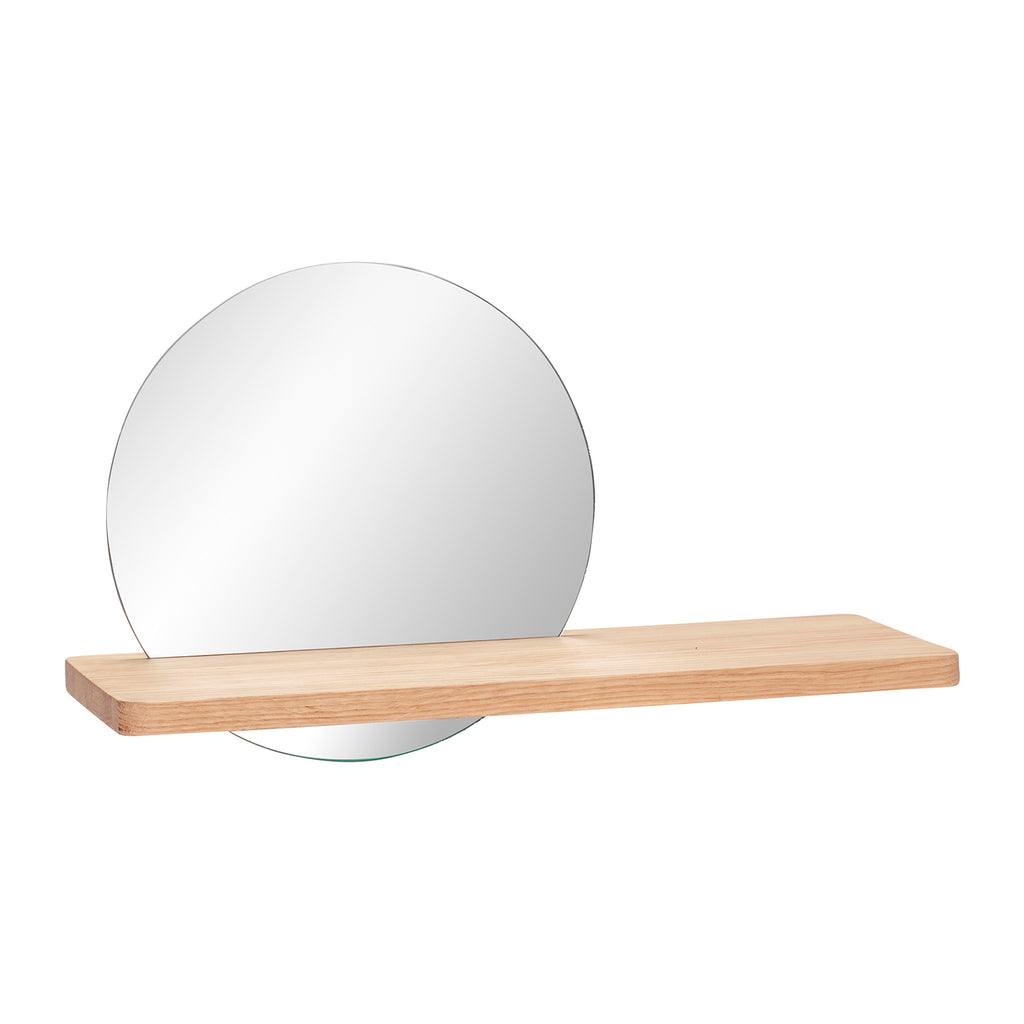 Natural Shelf with Mirror - HOWKAPOW