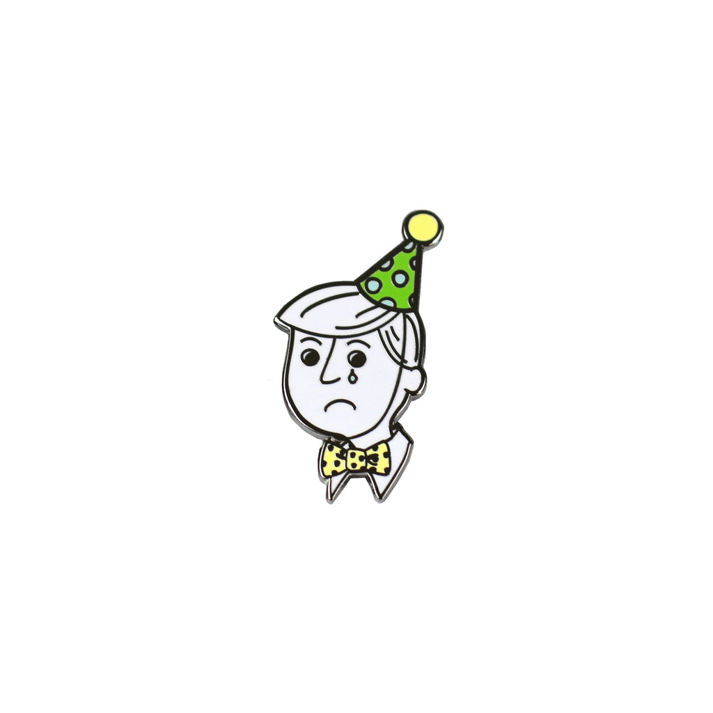 Disappointed Party Man Enamel Pin - HOWKAPOW