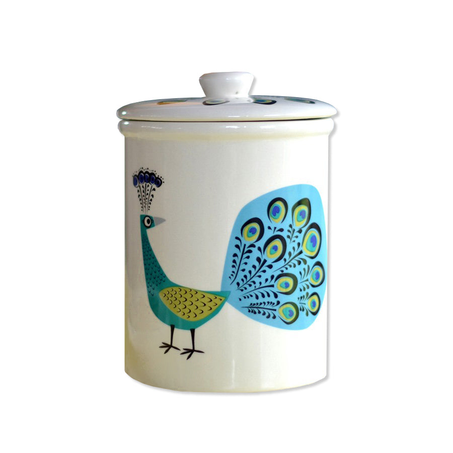 Peacock Storage Jar