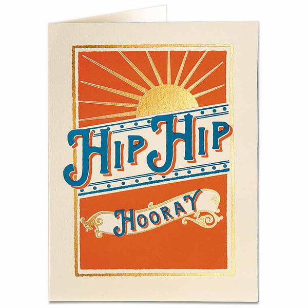 Hip Hip Hooray Letterpress Card - HOWKAPOW