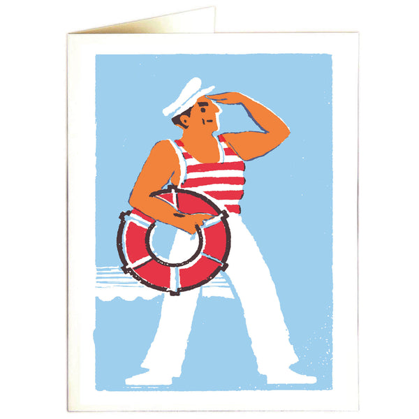 Sailor Letterpress Card - HOWKAPOW
