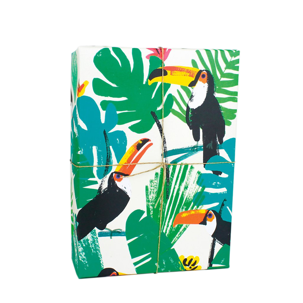 Toucans Leaves Gift Wrap