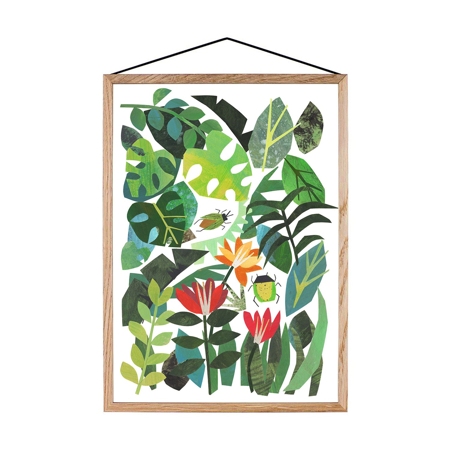 Tropical Leaves Print A3