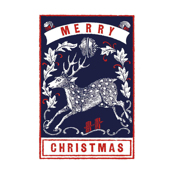 Stag Merry Christmas Set Of 6 Letterpress Christmas Cards