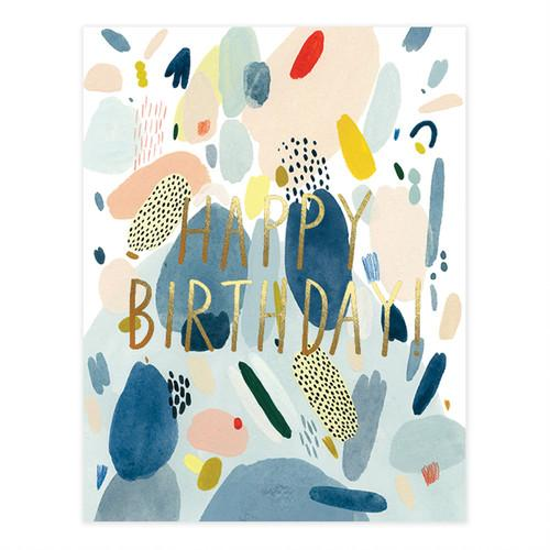Abstract Birthday Foil Card - HOWKAPOW